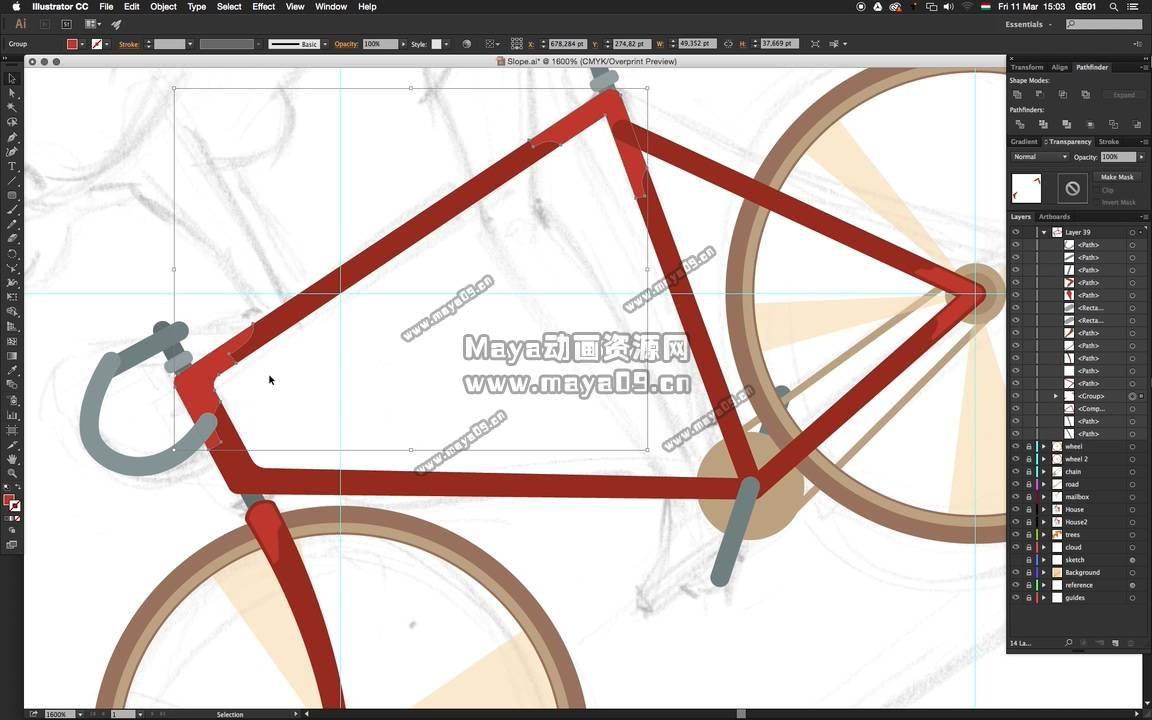 18 - Drawing the handlebars and the crankset.mp4_20200304_113929.116.jpg