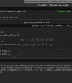 3ds max模型导入插件nPower Power Nurbs for 3Ds Max 2014-2015 _ 64bit only
